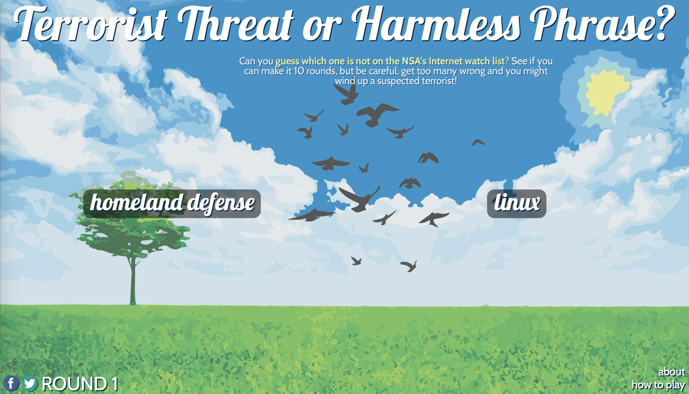terrorist threat or harmless phrase?
